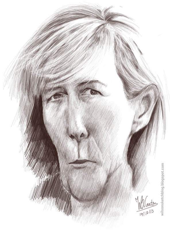 Caricature of Maria Luís Albuquerque, using SketchBook Pro.
