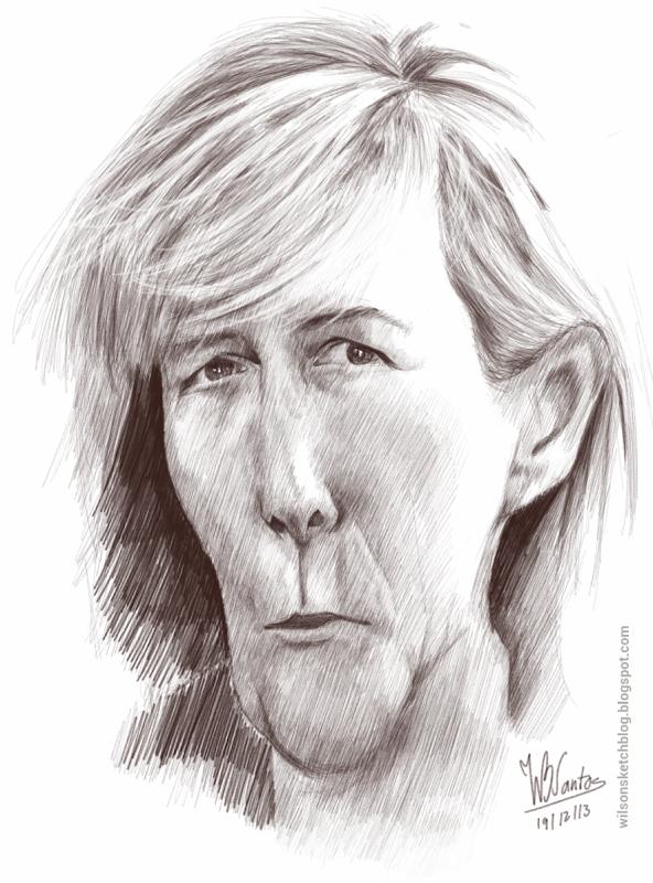 Caricature of Maria Luís Albuquerque, using SketchBook Pro.