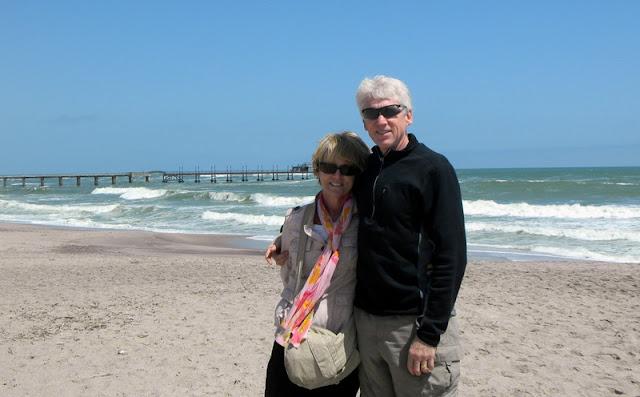 At the beach on Swakopmund
