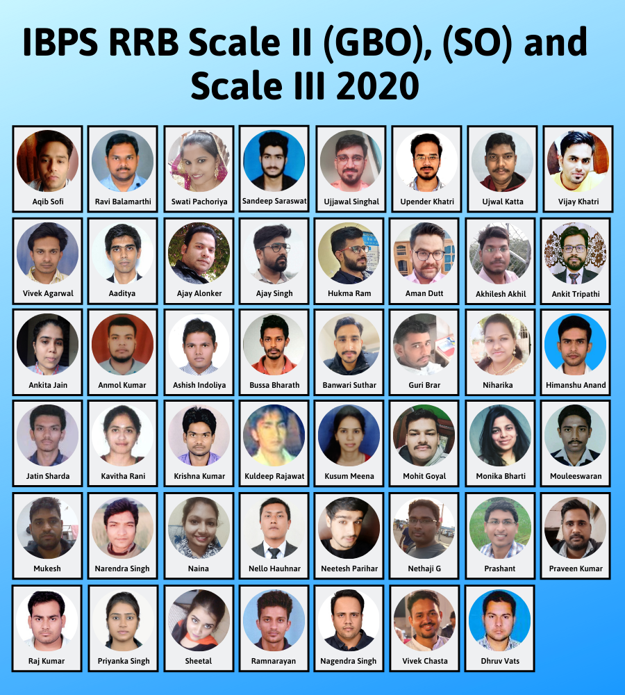 IBPS RRB (GBO), (SO) and Scale III 2020