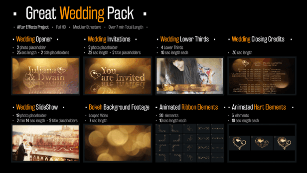 wedding pack - lovely memories - after effects project (videohive, Presentation templates
