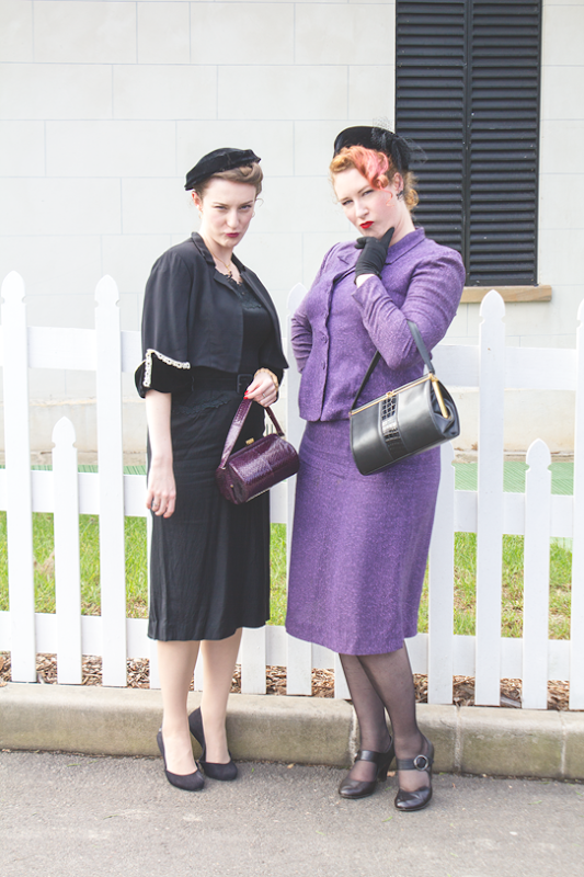 """Bloggers give the evil eye to predestrians walking through *their* photoshoot location..."" 