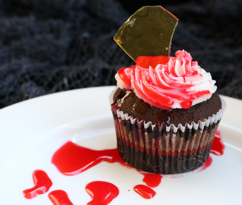 Bloody Broken Glass Cupcake