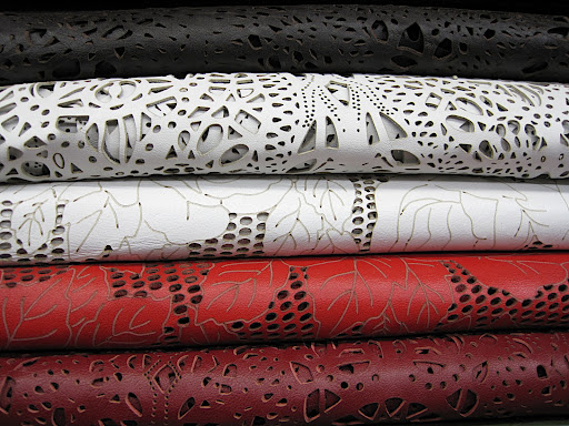 Laser cut patterns...like lacey leather