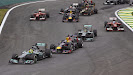 Start of the 2013 Brazilian F1 GP - Rosberg keeps 1st place