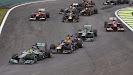 Start of the 2013 Brazilian F1 GP - Rosberg keeps 1st place