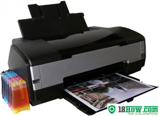 How to reset flashing lights for Epson 1410 printer