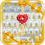 Gold and Silver Glitter Bowknot Girlish Keyboard