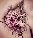 skull-and-roses-tattoo-design-idea4