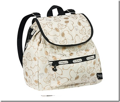 Peanuts X LeSportsac 9808 Small Edie Backpack 02