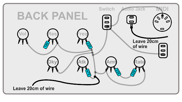 DIY Synth build guide panel connections 13