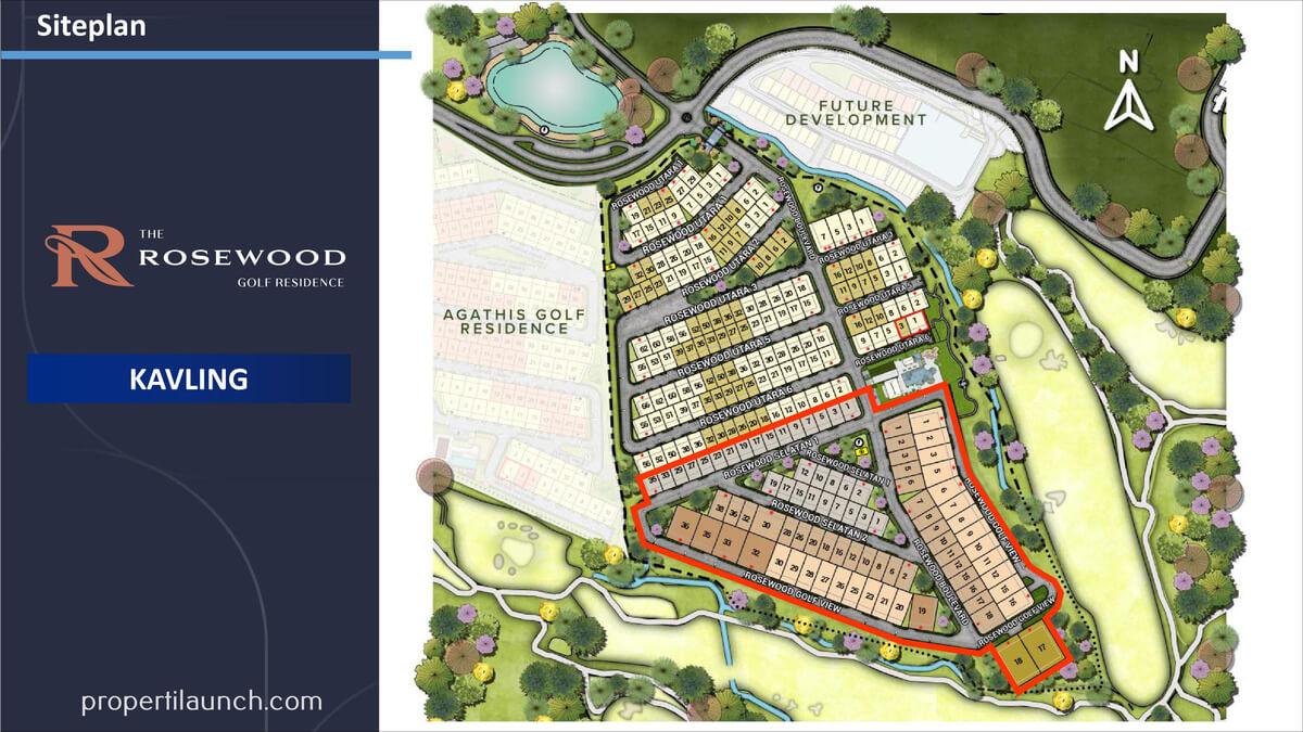 Siteplan Kalving Rosewood Summarecon Bogor