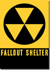 US Fallout shelter sign