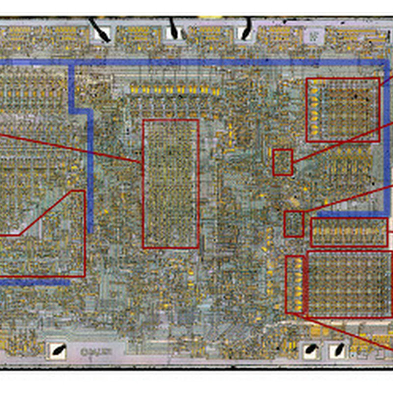 Analyzing the vintage 8008 processor from die