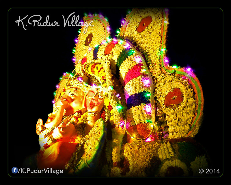K.Pudur Village Vinayaka Chaturthi festival celebration 2014 (On the side of Vinayaka statue decoration)