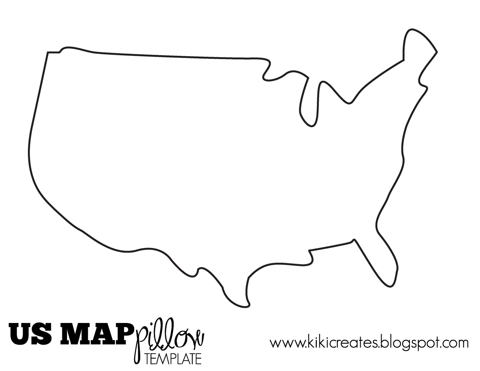 the us map pillow tutorial kiki company