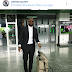 Peter Okoye of Psquare dabber in suit as he heads out for Dubai performance (photo)