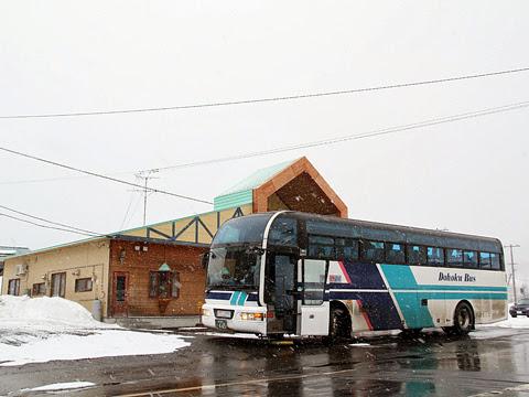 道北バス「特急えさし号」旭川線 ・665 音威子府にて