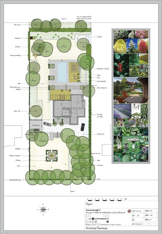 Tuinontwerp voorbeelden tuinontwerp beplantingsplan for Tuinontwerpen achtertuin