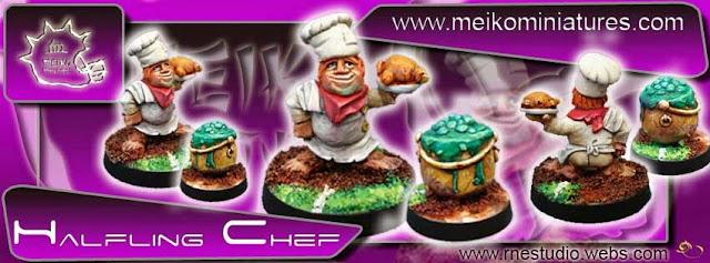 Chef Halfling Meiko Miniatures