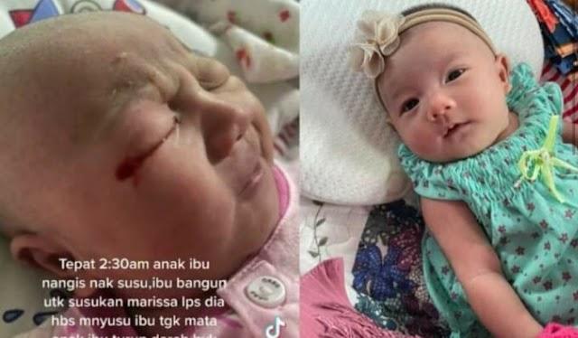 Mula-mula bertahi, kemudian berdar4h… ibu muda ini hari-hari menangis saksi der1ta bayi sulung sak1t mata