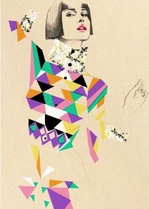 Fashion Illustration Geometric Shapes Art