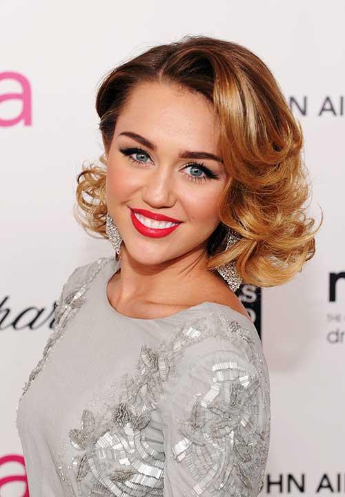 Magnificent Miley Cyrus39S Caramel Gatsby Short Hairstyle Fashion Qe Short Hairstyles Gunalazisus