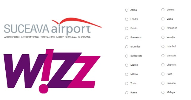 Wizz Air va opera noi zboruri dinspre Suceava spre destinații dinvestul Europei, din primăvară