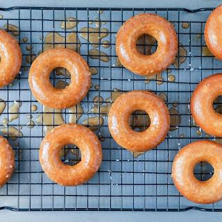 Apple Cider Donuts with Caramel Apple Glaze