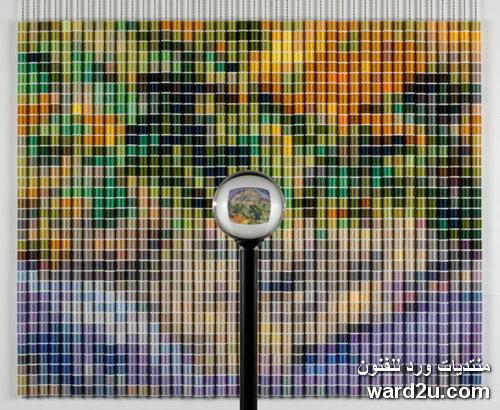 لوحات عالمية من بكر الخيوط الملونة للفنان Devorah Sperber
