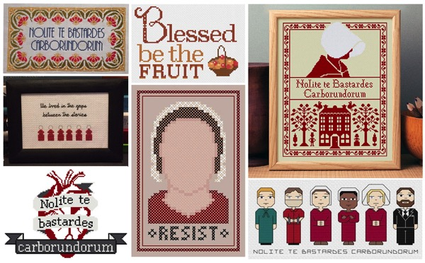 10 handmaid s tale cross stitch patterns