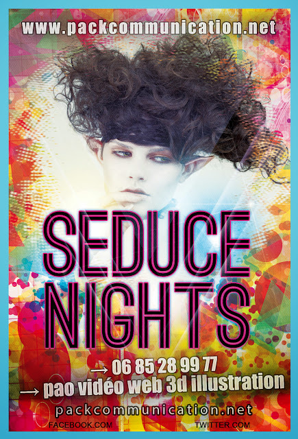 création flyers soirées thème Seduce Nights