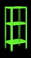 Mini estante de Aço - 03 Prateleiras e Pintura Epóxi