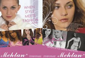 Szórólap tervezés a Mchtan Fashion-nak.