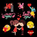 Stickers de amor icon