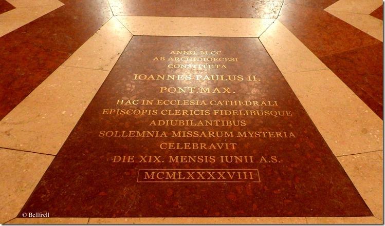 Gedenkinschrift Papstbesuch