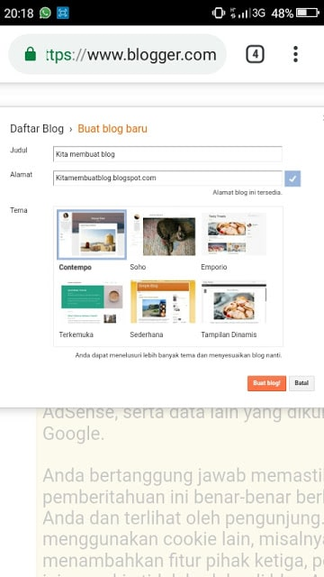 Hasan Askari: Tutorial Blogger Lengkap Menggunakan HP - #4 Mendaftar dan Membuat Blog - gambar 7