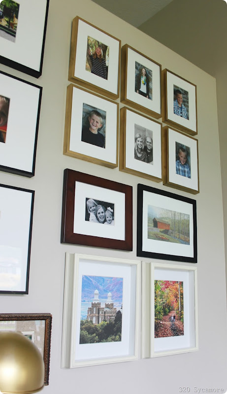 gallery wall frames family pictures