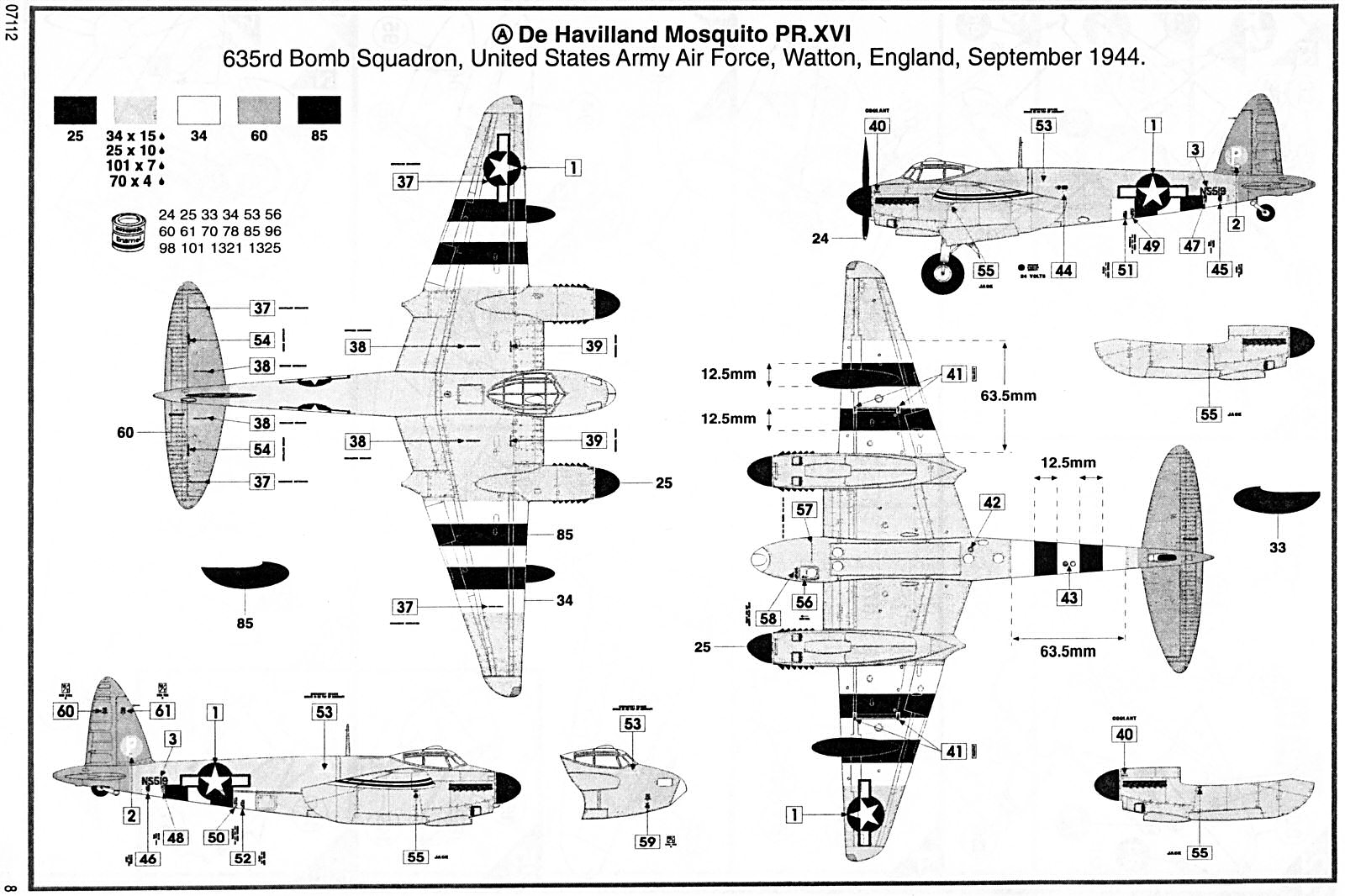 Airfix 1 48 De Havilland Mosquito B Xvi Pr Xvi
