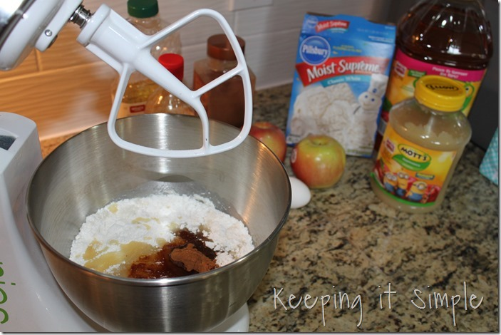 #ad Mini-Applesauce-Apple-Cinnamon-Bundt-Cake-Bar #BakeintheFun (3)
