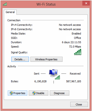 How to fix limited or no connectivity Wi-Fi in Windows 8