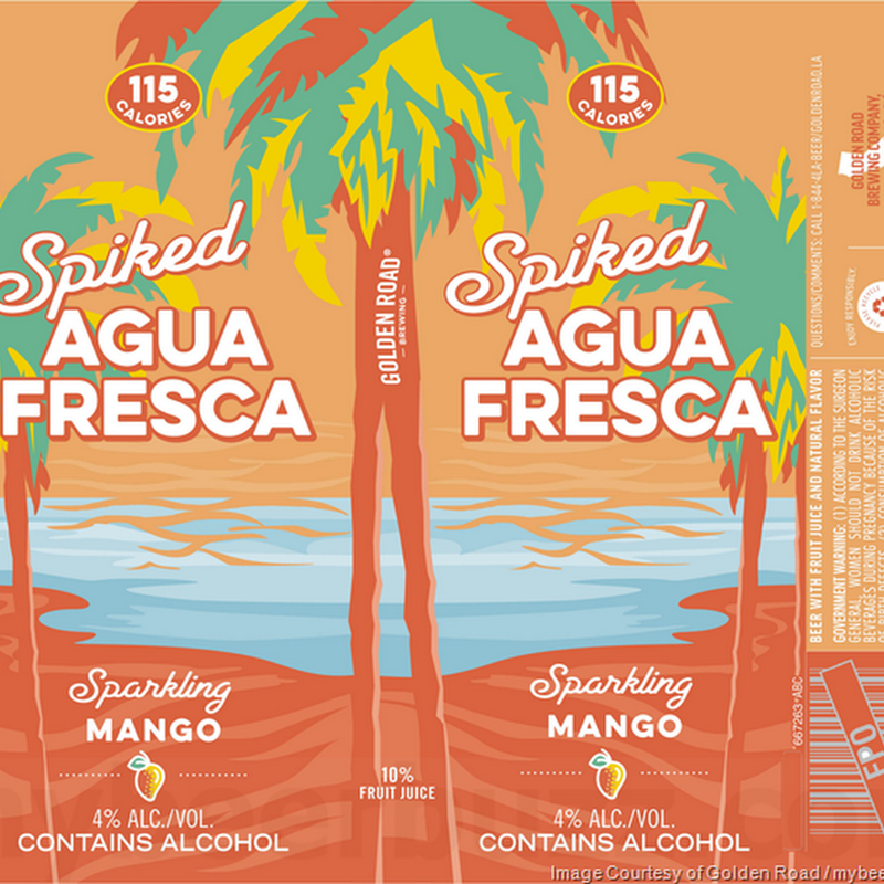 Golden Road - Spiked Agua Fresca - Mango, Cucumber Lime, Spicy Mango Cart & Strawberry Pineapple / Ride On IPA / Palisades Pineapple / K-38 Clara / K-38 Oscura / Haze The Day IPA / Guava Dia / Medianoche IPA