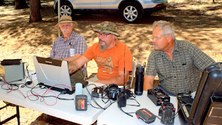 "W6DD Nevada County Amateur Radio Club at the 'fairgrounds"" in Grass Valley.  Photos by Jim W6LG"
