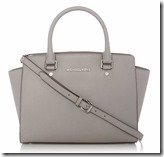 Michael Kors pale grey Selma handbag