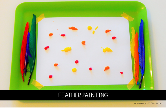 Feather Painting for Kids