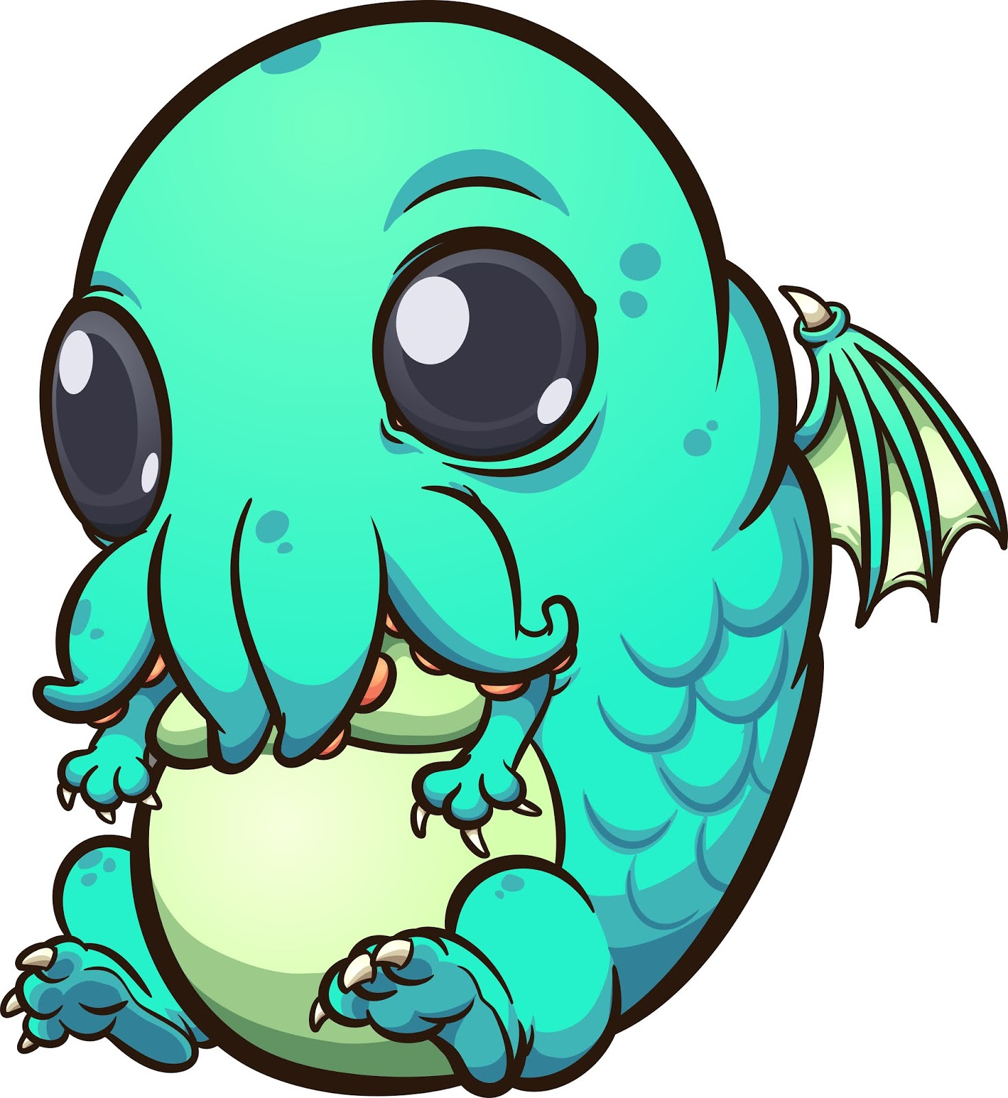 Baby Cthulhu Free Download Vector CDR, AI, EPS and PNG Formats