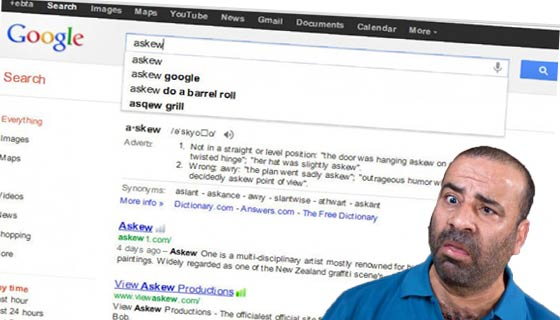 ما هي عجائب محرك البحث جوجل Google كلمة إذا بحثت عنها يميل المتصفح