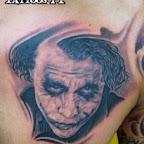 chest - Joker Batman Tattoos Pictures