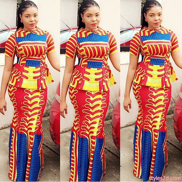 ab57364ad54b8 So annal bottomward to allay your appetite for the top ten latest ankara  styles of the week