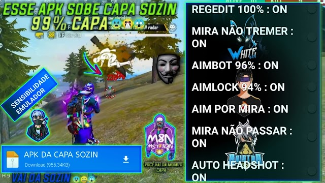SAIU APK DE REGEDIT SOBE CAPA SOZIN COM REGEDIT 100% AIMBOT 96% AIMLOCK 94% AIM POR MIRA AUTO HEADSHOT 😨😱